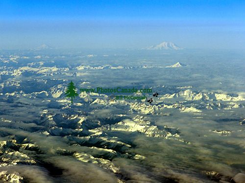 Aerial Coast Mountains, Mount Baker, British Columbia, Canada 05