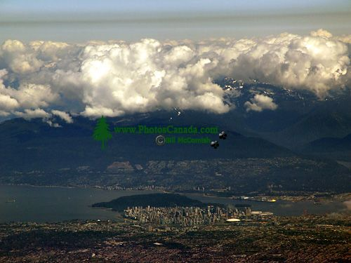 Aerial Vancouver and North Shore Mountains, British Columbia, Canada 03