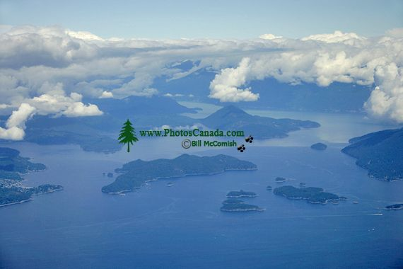 Strait of Georgia and Horseshoe Bay Aerial, British Columbia, Canada CM11-05