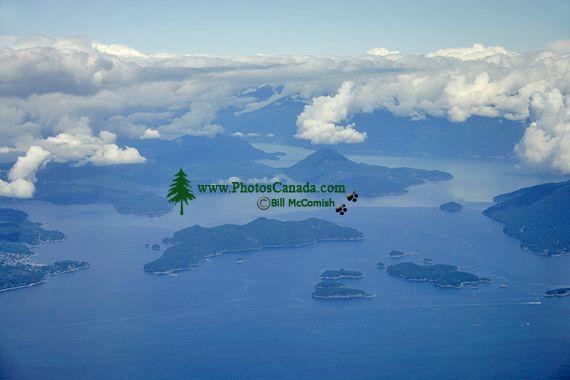 Strait of Georgia and Horseshoe Bay Aerial, British Columbia, Canada CM11-05