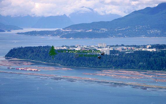 Aerial University of British Columbia,   North Shore Mountains, British Columbia, Canada CM11-04