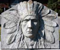 Whyte Museum Sculpture, Town of Banff, Alberta, Canada CMX-008