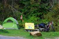 Camping along Trans Canada Highway, British Columbia, Canada CMX-001