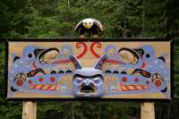 Bella Coola, Memorial Carving, British Columbia, Canada CM11-003