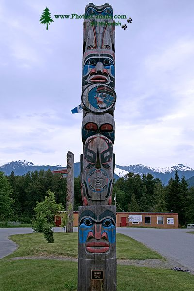 Bella Coola, School Totem Pole, British Columbia, Canada CM11-002