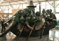 Spirit Of Haida Gwaii, The Jade Canoe,  by Bill Reid, Vancouver Airport, British Columbia, Canada CM11-03