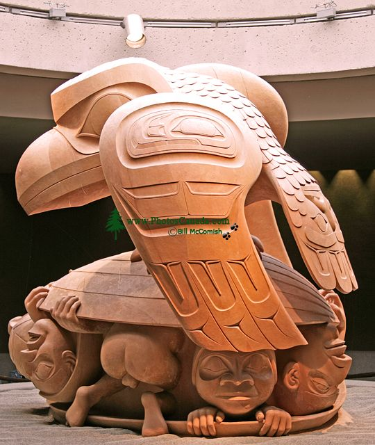 The Raven and the First Men by Bill Reid, Museum of Anthropology, British Columbia, Canada CM11-04
