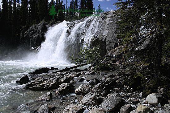 Bugaboo Creek Falls, Bugaboo Provincial Park, Kootenays, British Columbia, Canada CM11-004