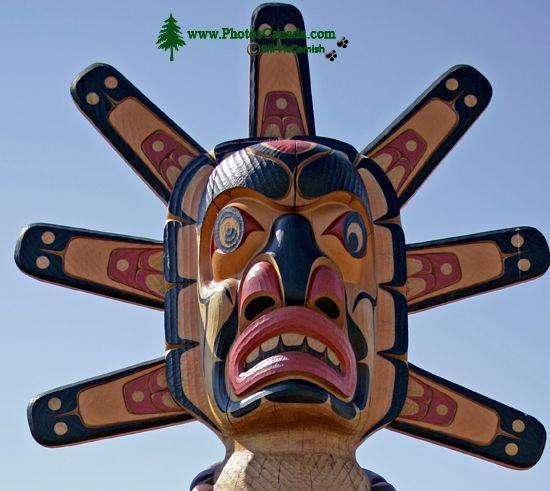 Campbell River Totem, Vancouver Island, British Columbia, Canada CM11-01