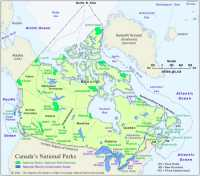 Map of Canada's National Parks