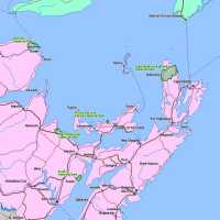 Location Map of Cape Breton National Park, Nova Scotia, Canada