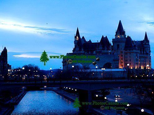 Chateau Laurier, Rideau Canal,  Ottawa, Ontario, Canada 02