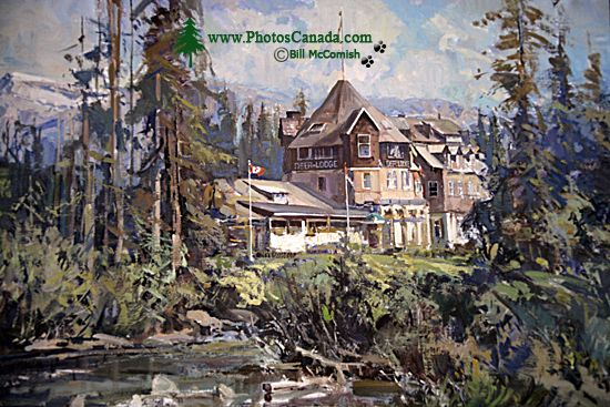 Emerald Lake Lodge Painting, Yoho National Park, 2011,  British Columbia, Canada CM11-008