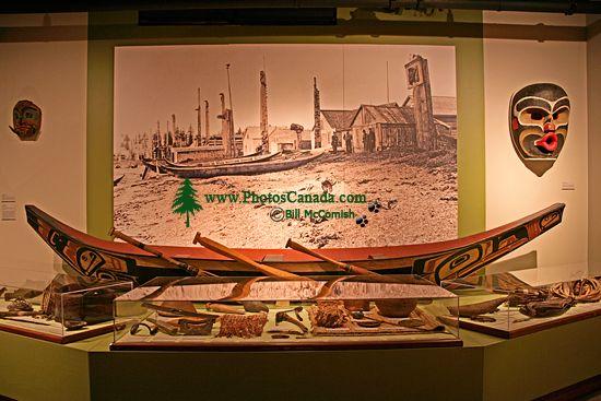 Glenbow Museum, Coast Salish Canoe, First Nations Gallery, Calgary, Alberta, Canada CM11-34