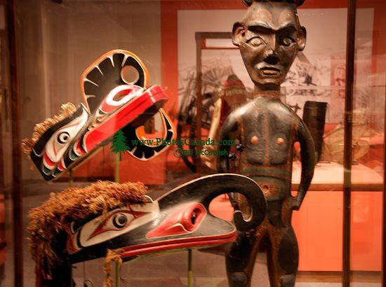 Glenbow Museum, Coast Salish Carvings, First Nations Gallery, Calgary, Alberta, Canada CM11-30