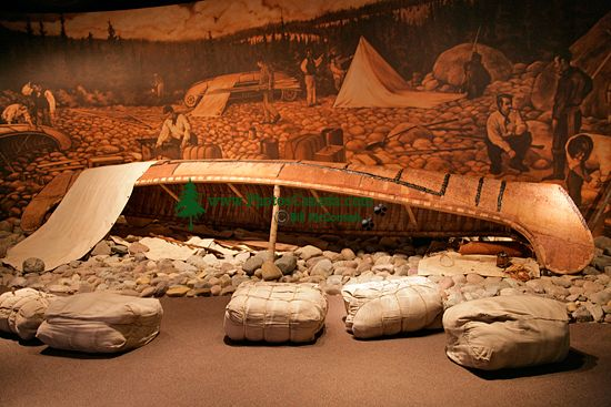 Glenbow Museum, Native Canoe, First Nations Gallery, Calgary, Alberta, Canada CM11-33