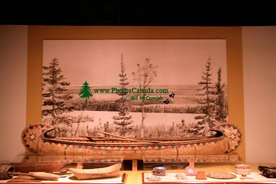 Glenbow Museum, Native Canoe, First Nations Gallery, Calgary, Alberta, Canada CM11-32