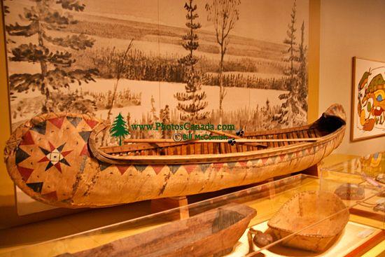 Glenbow Museum, Native Canoe, First Nations Gallery, Calgary, Alberta, Canada CM11-31