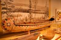Glenbow Museum, Native Canoe, First Nations Gallery, Calgary, Alberta, Canada CM11-31