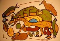 Glenbow Museum, Native Painting, First Nations Gallery, Calgary, Alberta, Canada CM11-15
