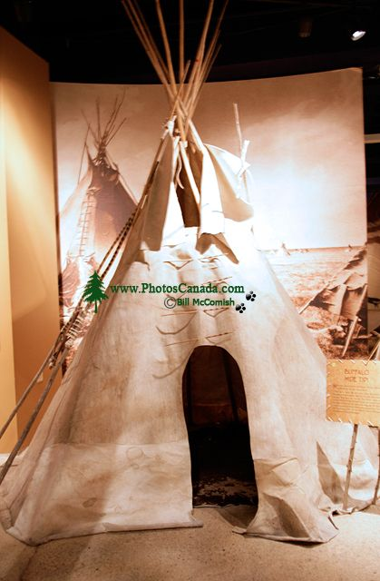 Glenbow Museum, Native Teepee, First Nations Gallery, Calgary, Alberta, Canada CM11-07