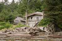 Hotspring Island, Gandll K'in Gwaay Yaay, Watchmen House, Haida Heritage Site, Gwaii Haanas National Park Reserve, British Columbia, Canada CM11-001