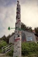 Highlight for Album: Haida Totem Pole Photos, Old Massett, Skidegate,  Queen Charlotte Islands, Haida Gwaii, British Columbia Stock Photos