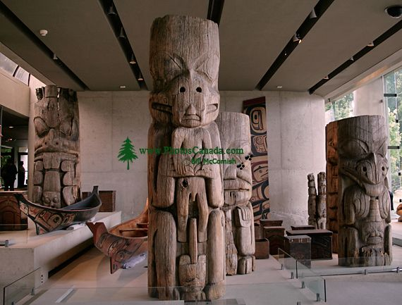 Haida Totem Pole, Canoes, Museum of Anthropology. British Columbia, Canada CM11-09 