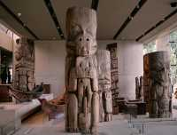 Haida Totem Pole, Canoes, Museum of Anthropology. British Columbia, Canada CM11-09  (Photo not for sale)