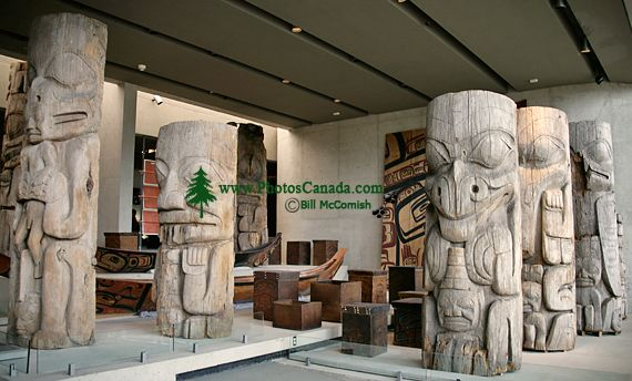 Haida Totem Poles, Carvings, Museum of Anthropology. British Columbia, Canada CM11-08 