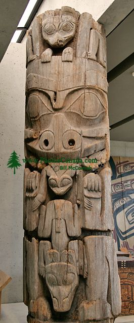 Haida Totem Pole, Museum of Anthropology. British Columbia, Canada CM11-05 