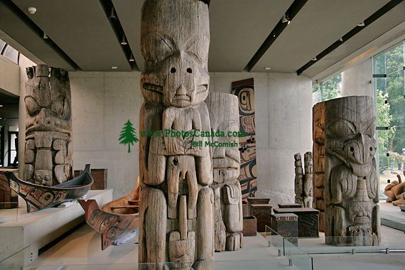 Haida Totem Poles, Canoes, Museum of Anthropology. British Columbia, Canada CM11-04  (Photo not for sale)