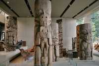 Haida Totem Poles, Canoes, Museum of Anthropology. British Columbia, Canada CM11-04 