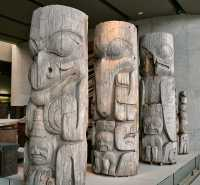 Haida Totem Poles, Museum of Anthropology. British Columbia, Canada CM11-02 