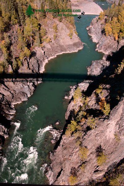 Bulkley River Canyon Bridge, The Hazeltons, Northern British Columbia, Canada CM11-008
