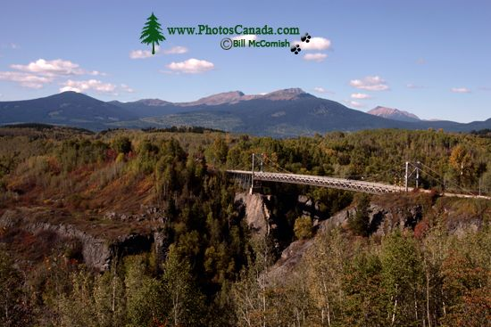 Bulkley River Canyon Bridge, The Hazeltons, Northern British Columbia, Canada CM11-009