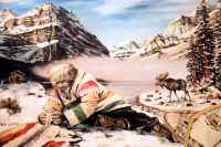 Jsaper Park Lodge Painting, Jasper National Park, Alberta, Canada CM11-31 IMAGE NOT FOR SALE