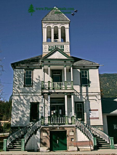 Kaslo, Historic City Hall, Kootenay Lake, West Kootenays, British Columbia, Canada CM11-004