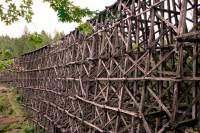 Highlight for Album: Kinsol Trestle, Shawnigan Lake, Vancouver Island, British Columbia Stock Photos