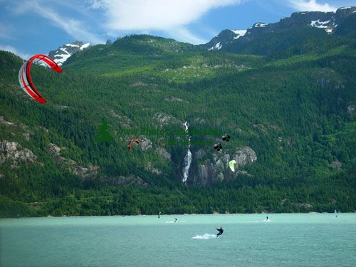 Kiteboarding, Squamish Harbour, British Columbia, Canada 02