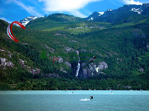 Kiteboarding, Squamish Harbour, British Columbia, Canada 01