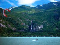 Kiteboarding, Squamish Harbour, British Columbia, Canada 01