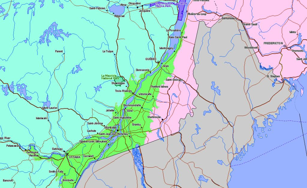 Map of La Mauricie National Park Canada Location