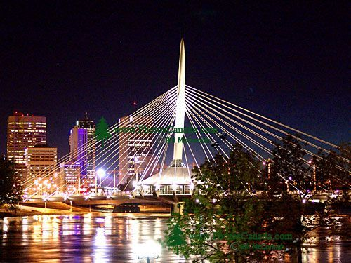 Winnipeg Esplanade Riel Bridge, Manitoba, Canada 02