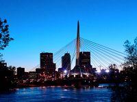 Winnipeg Esplanade Riel Bridge, Manitoba, Canada 01
