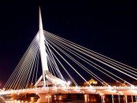 Winnipeg Esplanade Riel Bridge, Manitoba, Canada 03