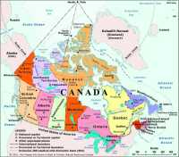 Map of Canada, Provinces and Territories