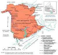 Map of New Brunswick, Canada