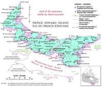 Map of Prince Edward Ialand, Canada