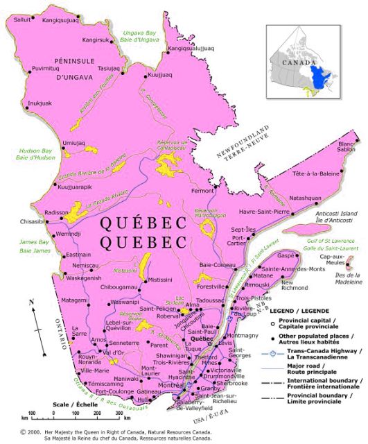 PhotosCanadacom Gallery Maps Of Canada Maps Of Canadian - Map of quebec canada